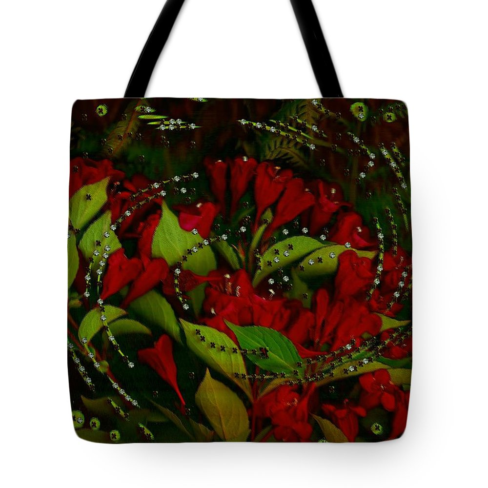 Flower Tote Bag featuring the mixed media Nature When Its Magical by Pepita Selles