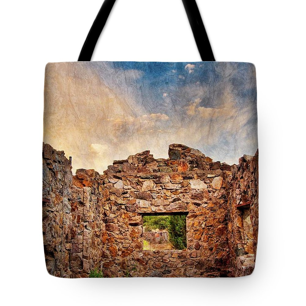 Southwest Tote Bag featuring the photograph Nature's Roof by Zayne Diamond Photographic