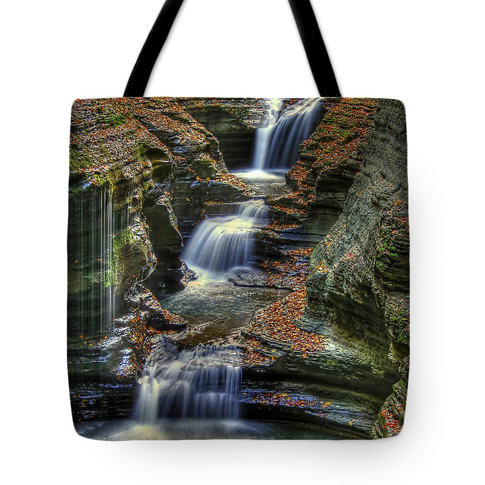 Water Tote Bag featuring the photograph Nature's Tears by Evelina Kremsdorf