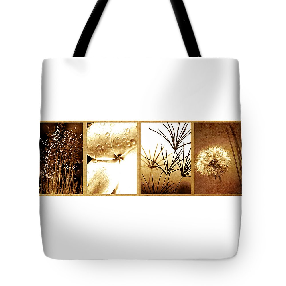 Floral Tote Bag featuring the photograph Nature's Window by Holly Kempe