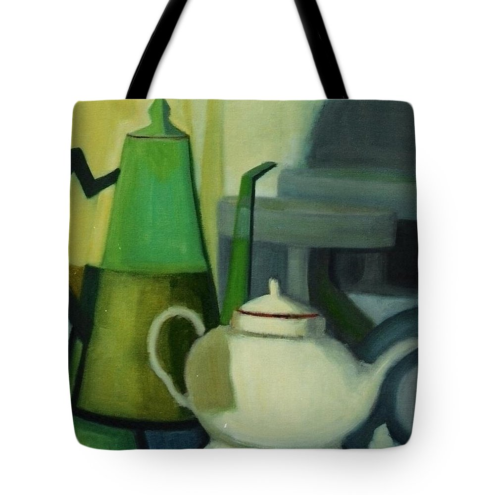 Still Life Geometric Milk Jug Tote Bag featuring the painting Natureza Morta by Fernanda Cruz