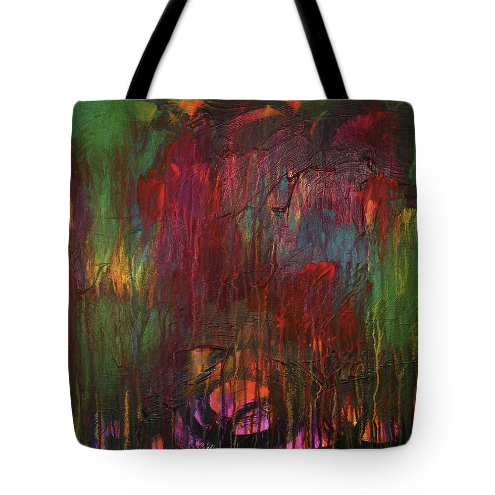 Pink Tote Bag featuring the painting Naughty Unicorn 2 by Rebecca Danger