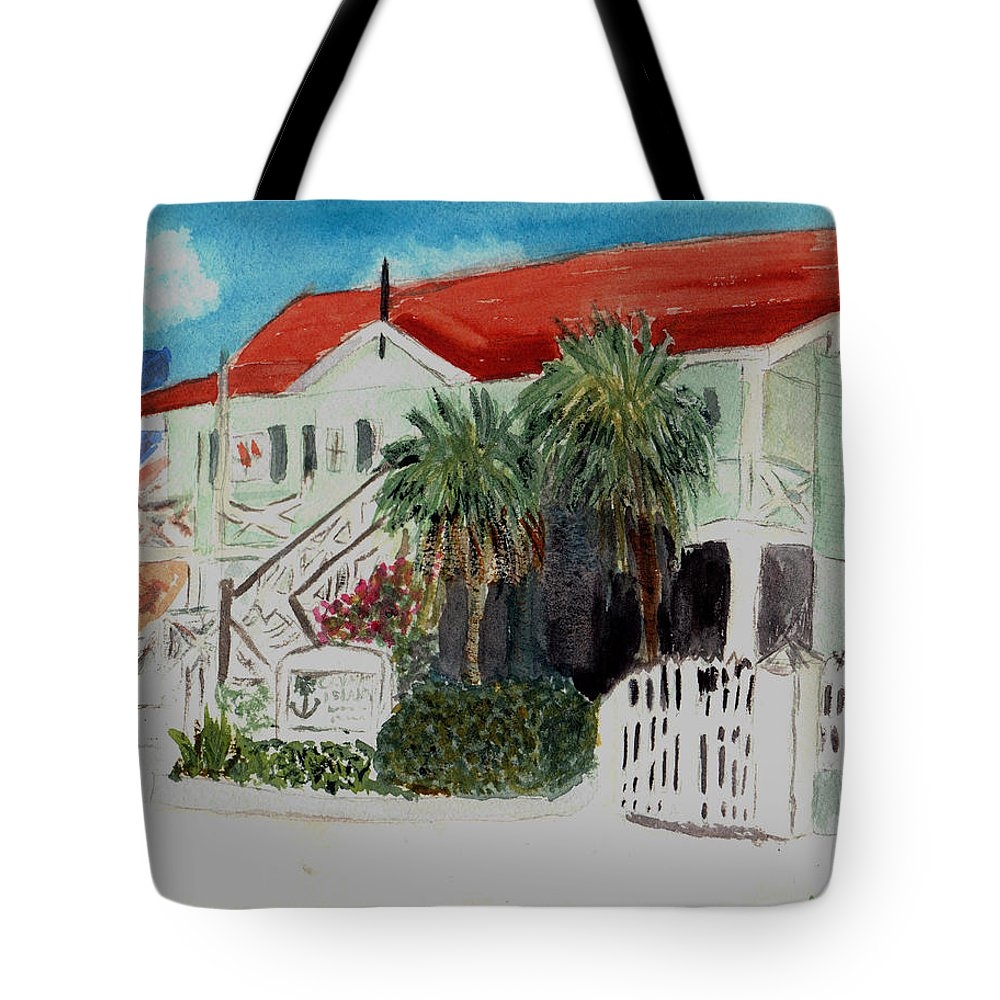 Nautical Tote Bag featuring the painting Nautical Museum Georgetown by Donna Walsh