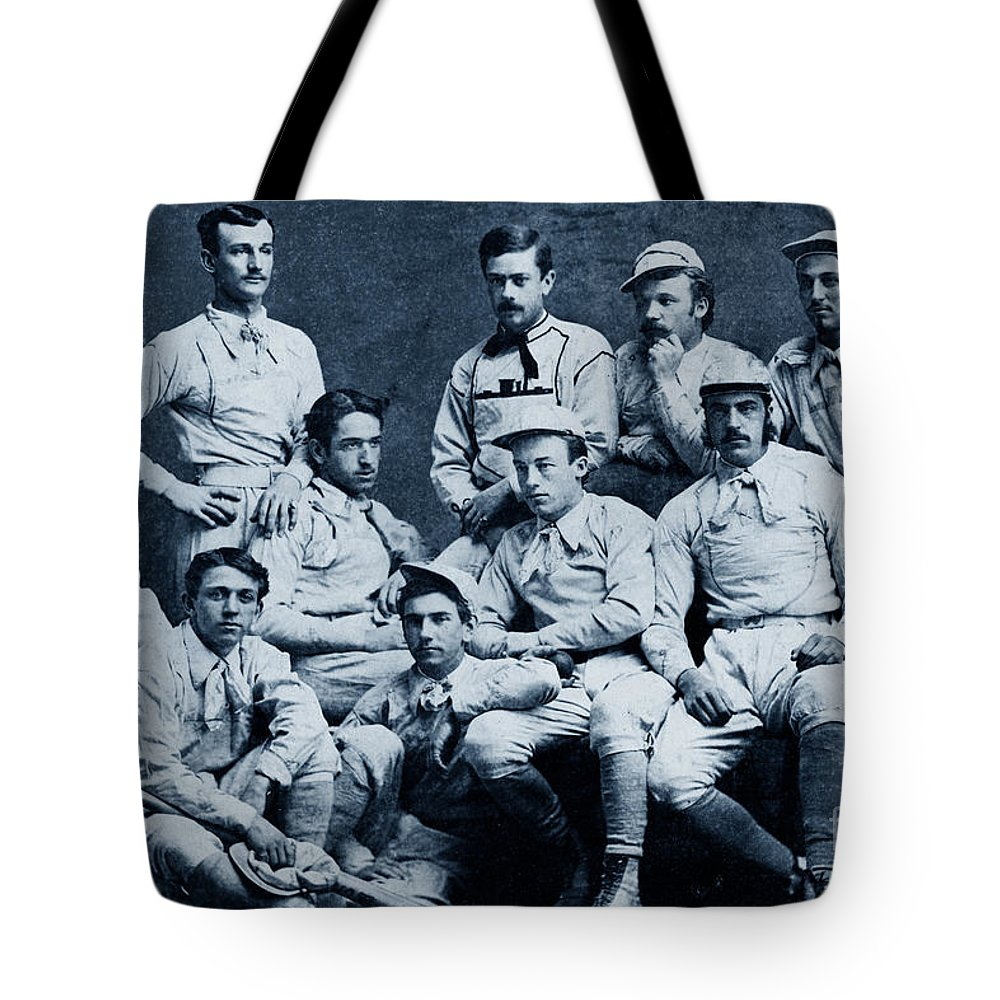 United States Tote Bag featuring the photograph Naval Academy Base Ball Team 1870 by California Views Archives Mr Pat Hathaway Archives