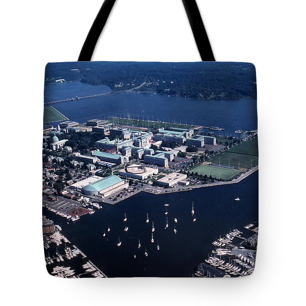 Md Tote Bag featuring the photograph Naval Academy by Skip Willits