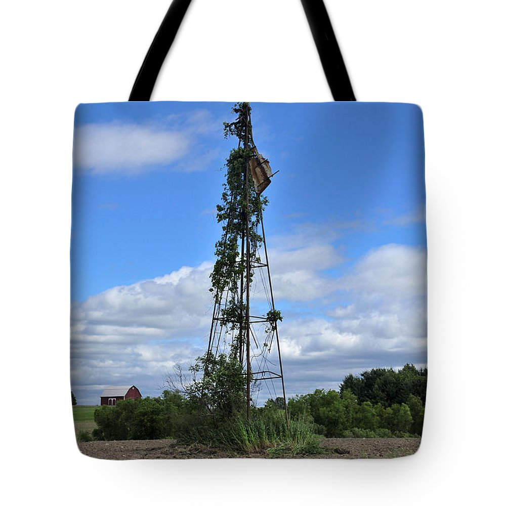 Windmill Tote Bag featuring the photograph Nearly Naked by David Arment