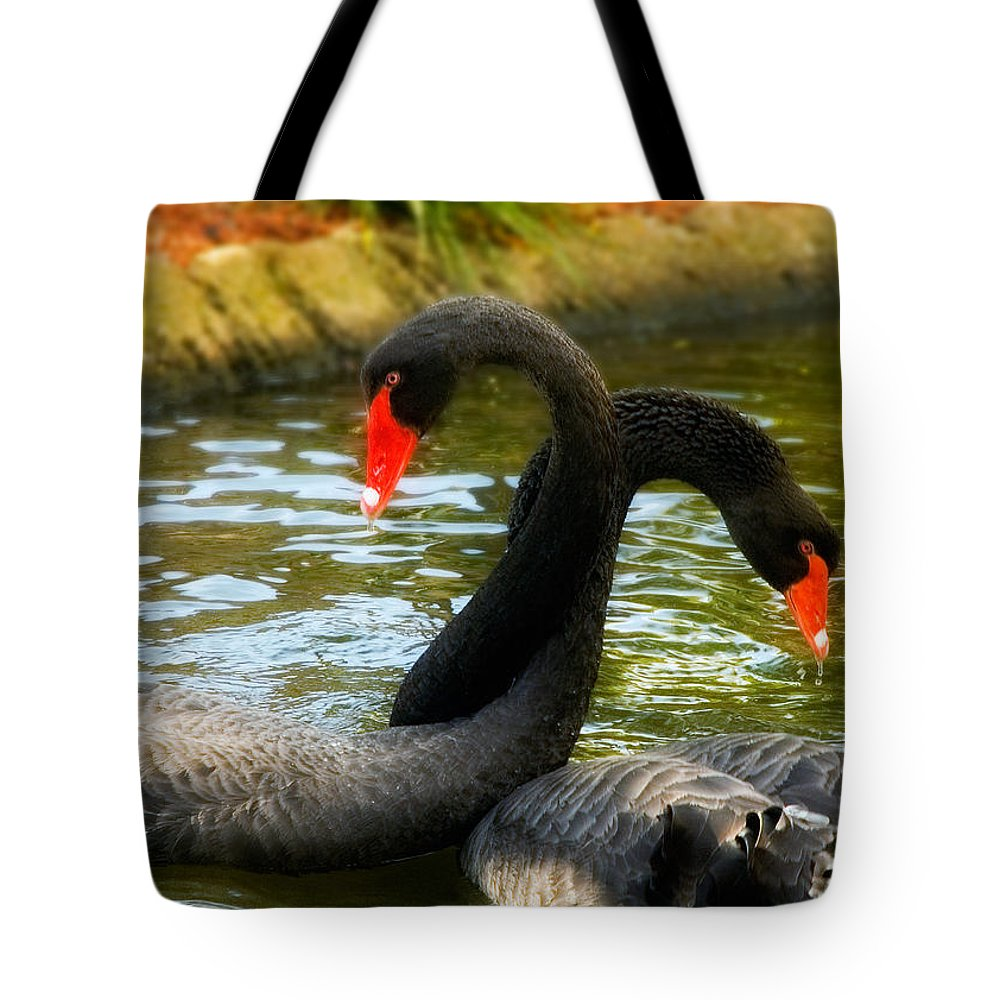 Bird Tote Bag featuring the photograph Necking by Mick Burkey