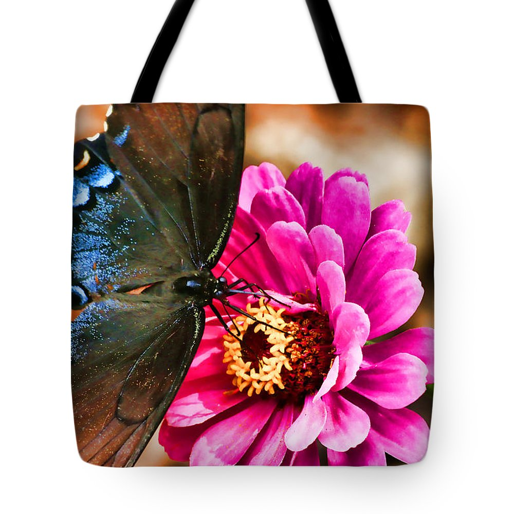 Nectar Feast Tote Bag featuring the photograph Nectar Feast by Ola Allen