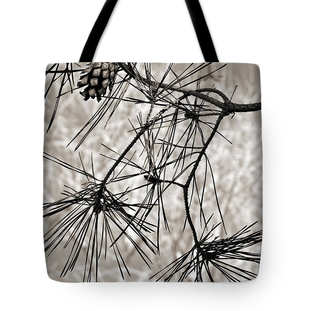 Tree Tote Bag featuring the photograph Needles Everywhere by Marilyn Hunt