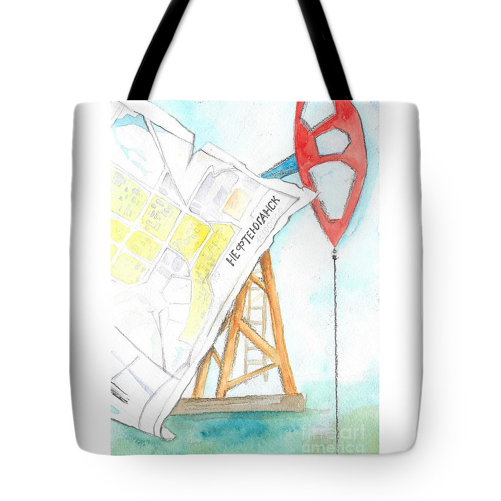 Nefteyugansk Tote Bag featuring the painting Nefteyugansk by Yana Sadykova