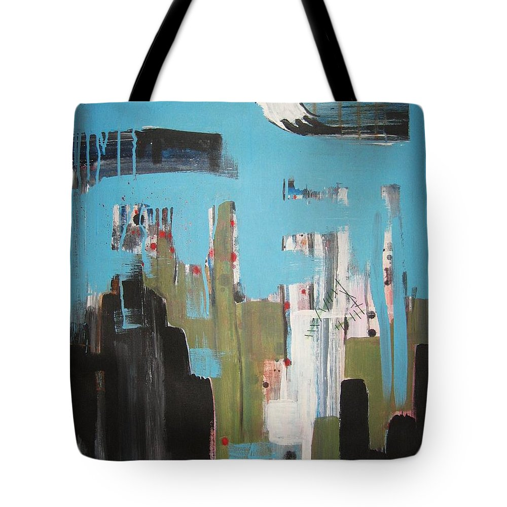 Abstract Paintings Tote Bag featuring the painting Neglected Area by Seon-Jeong Kim