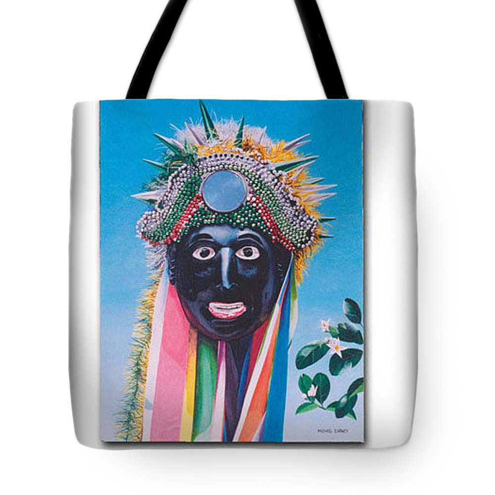 Michael Earney Tote Bag featuring the painting Negrito y flor de limon by Michael Earney