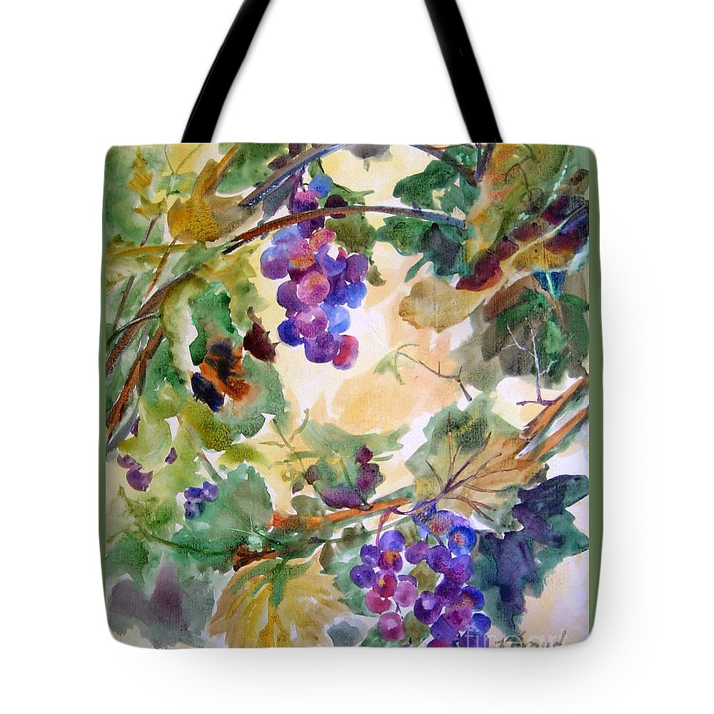 Paintings Tote Bag featuring the painting Neighborhood Grapevine by Kathy Braud