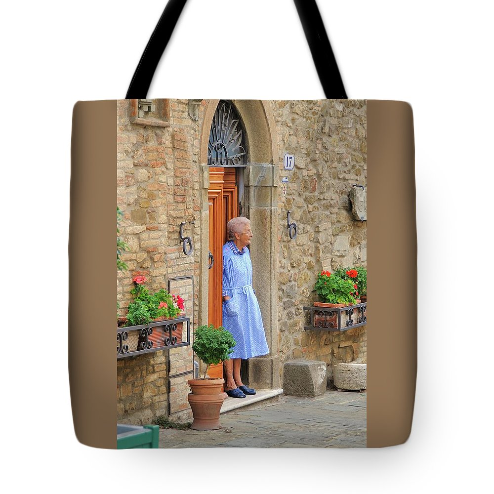 Italy Tote Bag featuring the photograph Neighborhood Watch by Jim Benest