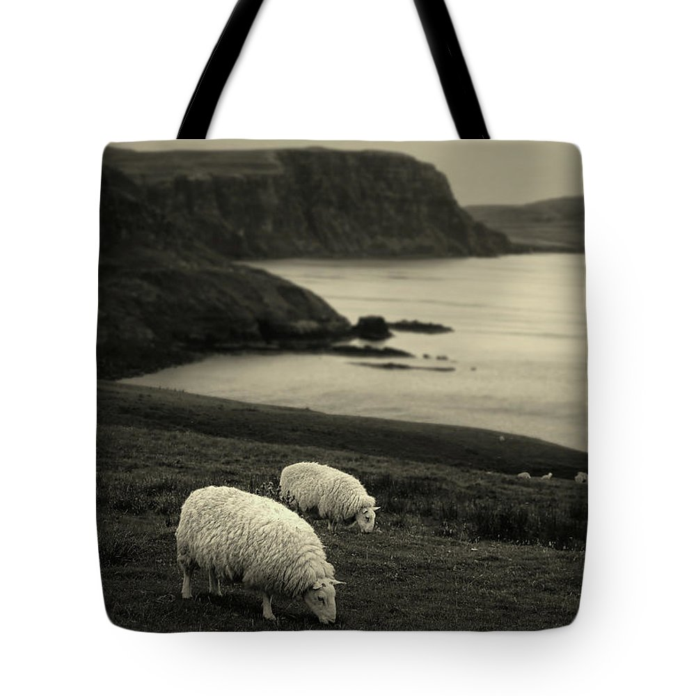 Sheep Tote Bag featuring the photograph Neist Point by Jerry LoFaro
