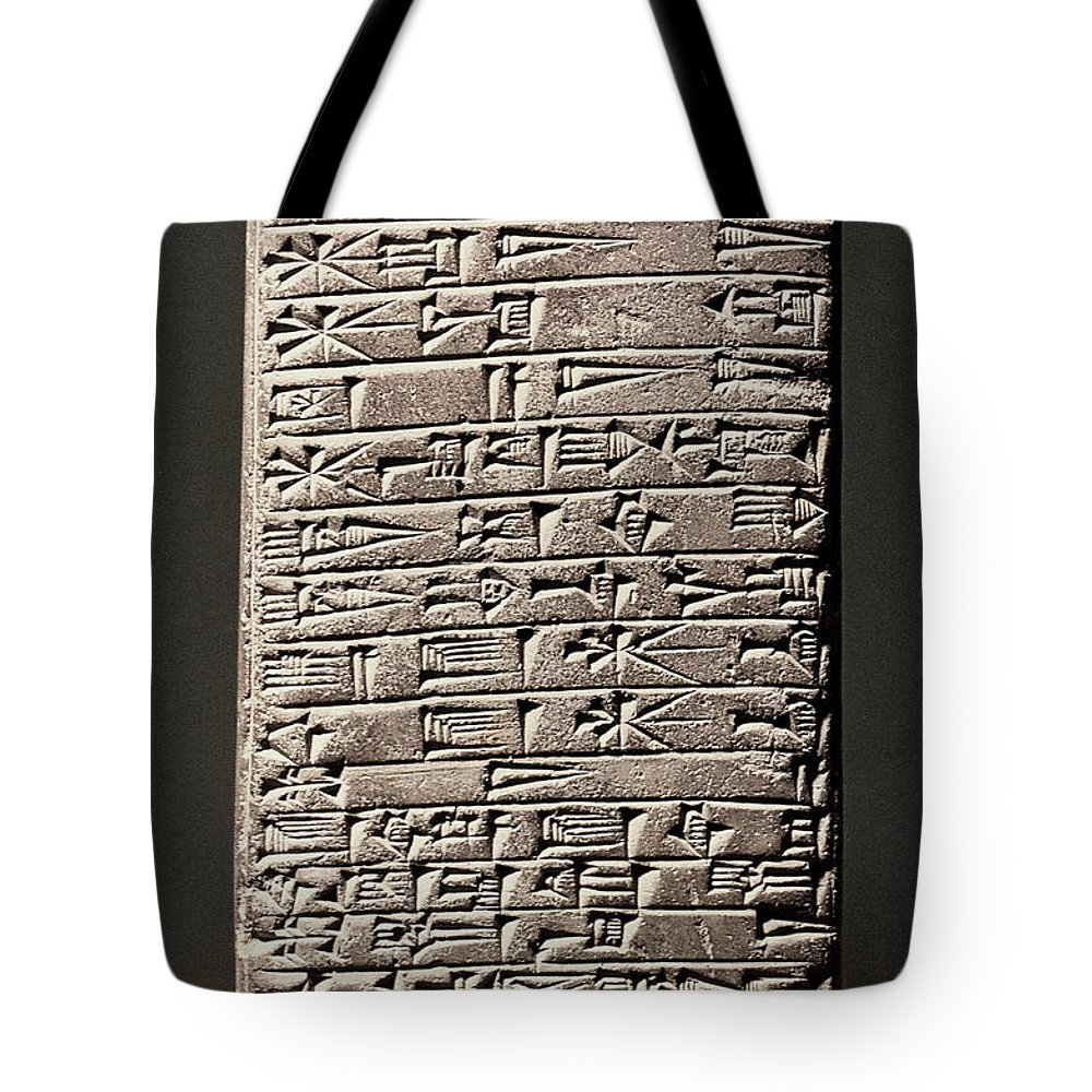 6th Century B.c. Tote Bag featuring the photograph Neo-babylonian Clay Tablet by Granger