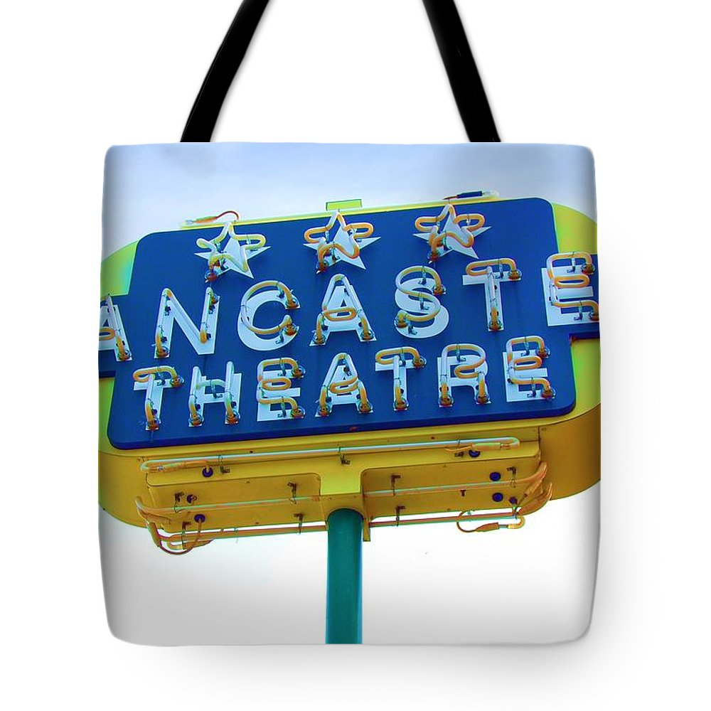 Sign Tote Bag featuring the photograph Neon by Debbi Granruth