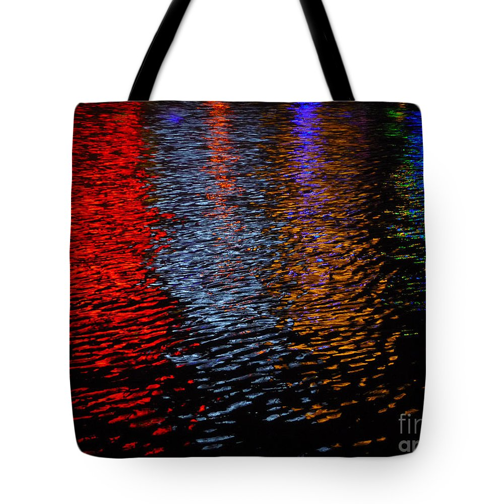 Neon Tote Bag featuring the photograph Neon Nites by Jeff Breiman