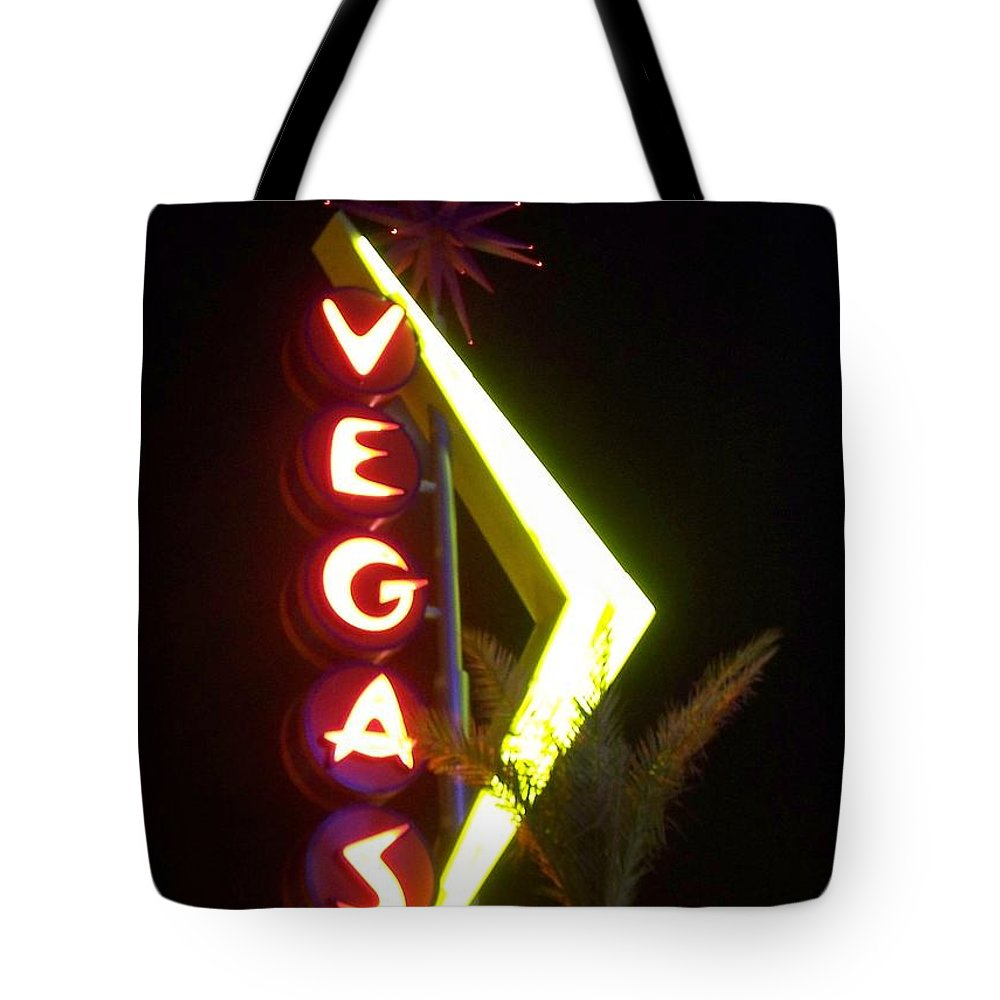 Fremont East Tote Bag featuring the photograph Neon Signs 2 by Anita Burgermeister