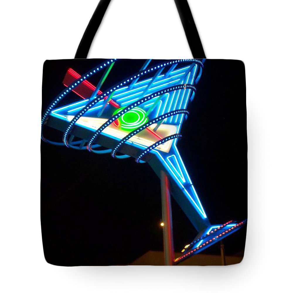 Fremont East Tote Bag featuring the photograph Neon Signs 4 by Anita Burgermeister