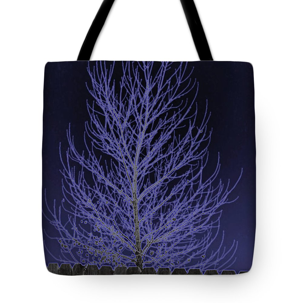 Neon Tote Bag featuring the photograph Neon Tree by Charles Benavidez