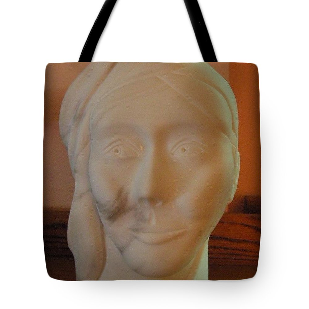 Sculpture Tote Bag featuring the sculpture Nephele Greek Goddess Of Clouds by Gary Stull