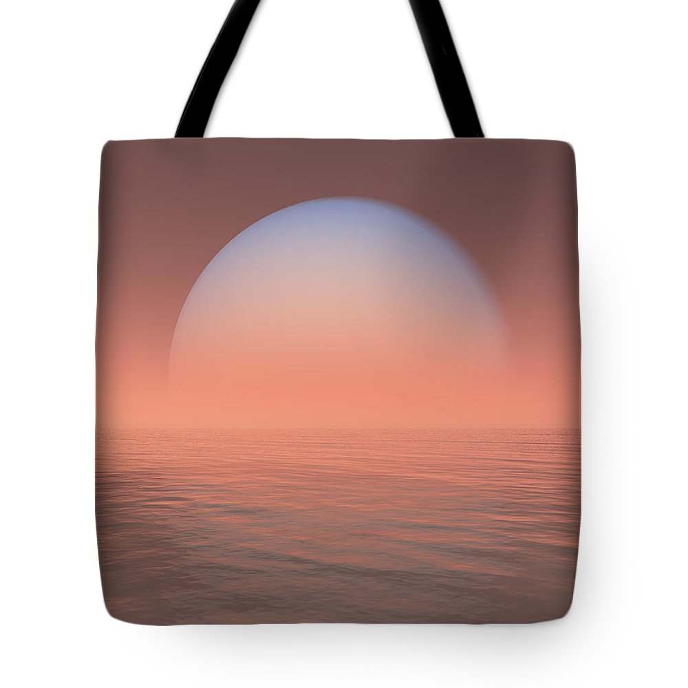 Earth Tote Bag featuring the digital art Neptune by Jay Salton