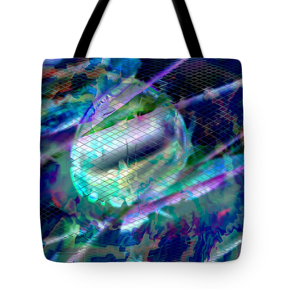 Ebsq Tote Bag featuring the digital art Netted Jewel by Dee Flouton