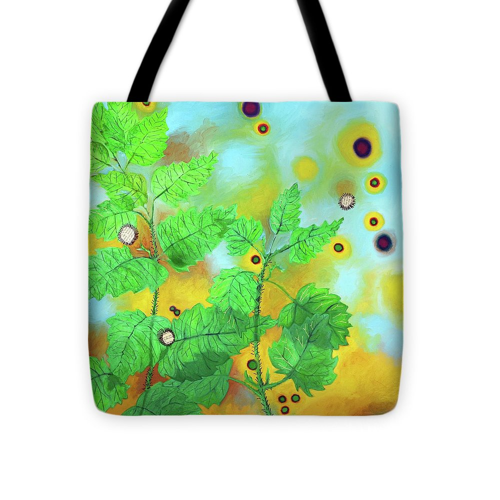 Nettles Tote Bag featuring the painting Nettles by Margaret Shipman