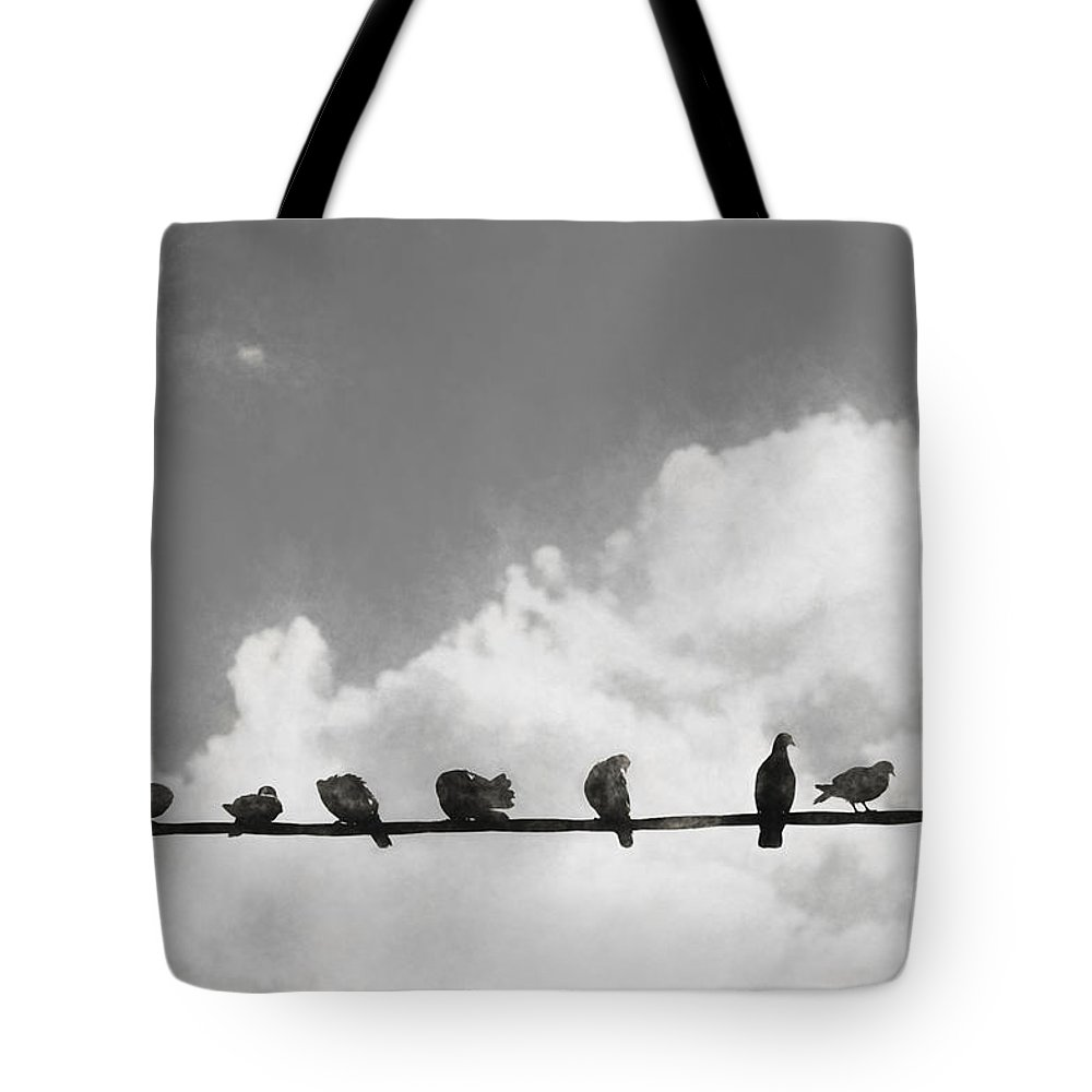 Line Tote Bag featuring the digital art Network Of The Bird Line by Jorgo Photography - Wall Art Gallery