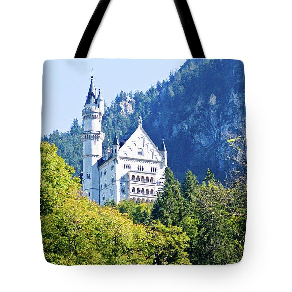 Schloss Tote Bag featuring the photograph Neuschwanstein Castle 1 by Bernard Barcos