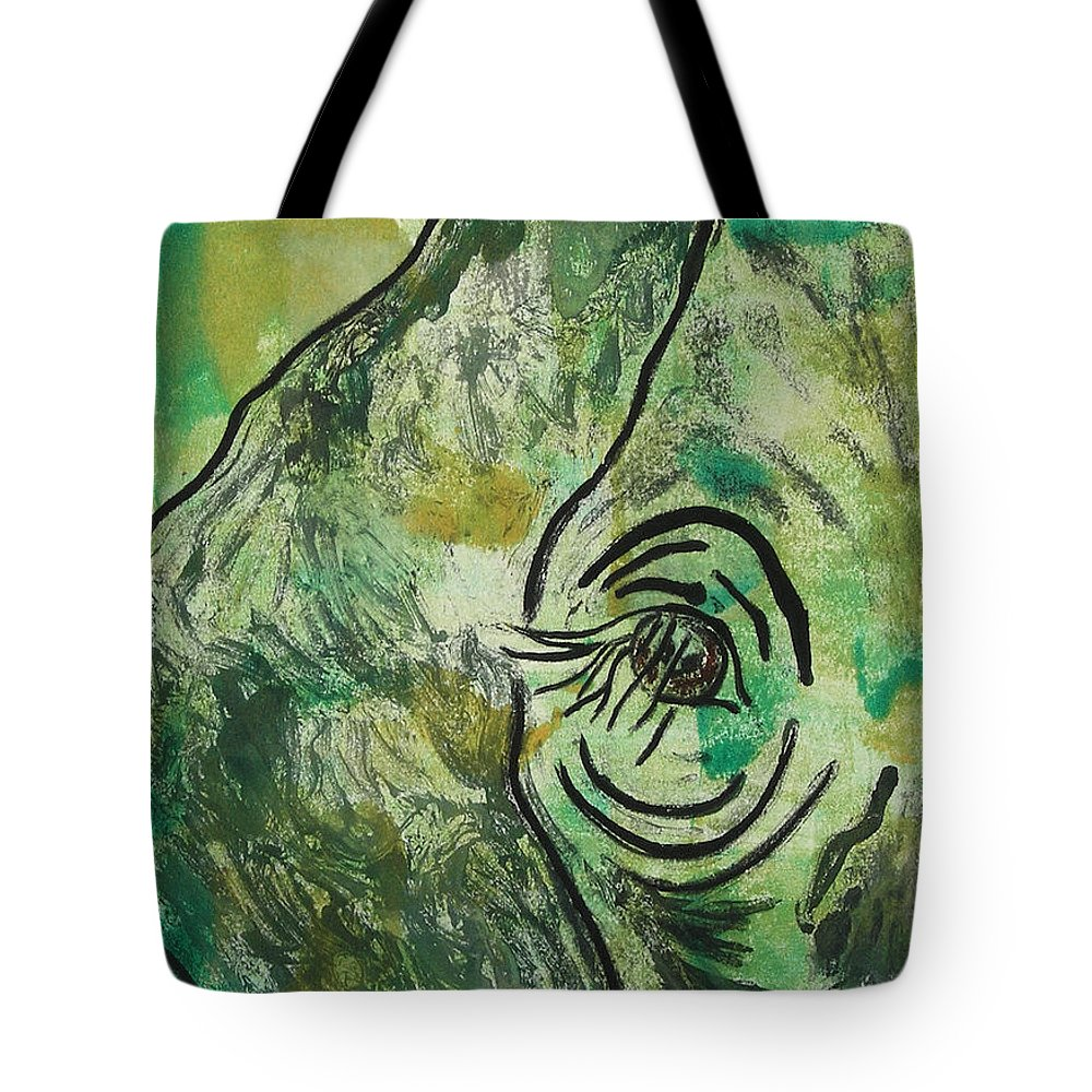 Monotype Tote Bag featuring the mixed media Never Forgotten by Cori Solomon
