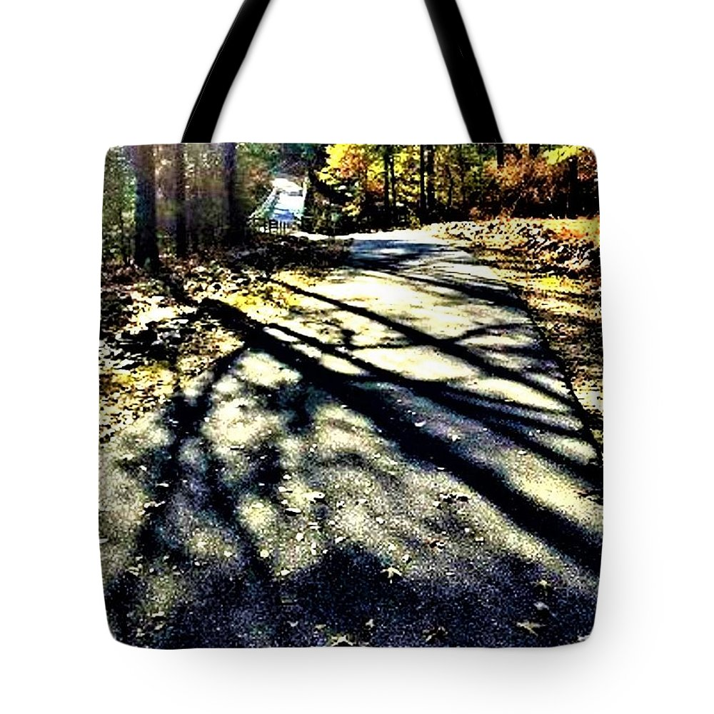 Path Tote Bag featuring the photograph Neverending Path by Michael Potts