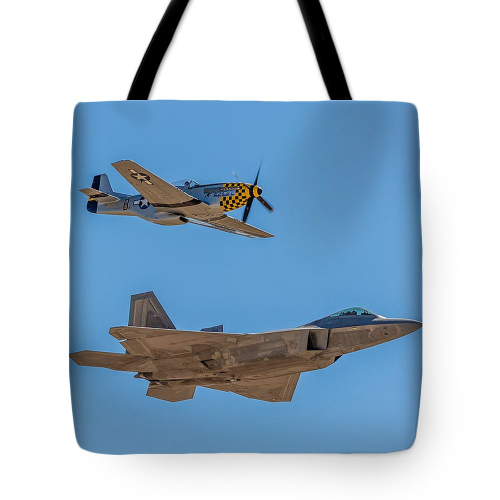 Jet Tote Bag featuring the photograph New And Old by Billy Bateman