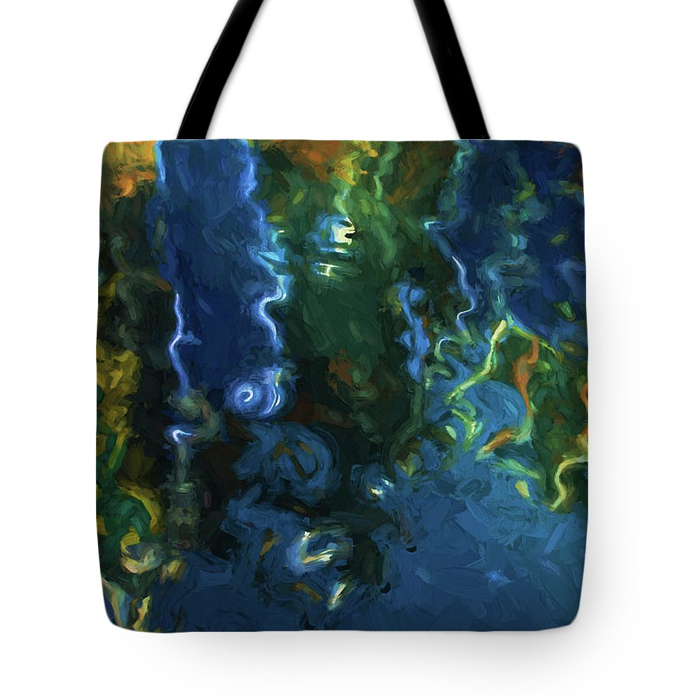 Abstract Tote Bag featuring the photograph New Bedford Waterfront IIi by David Gordon