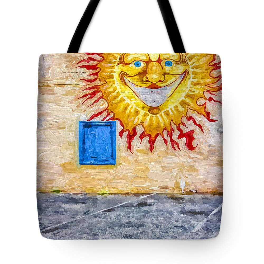 Sun Tote Bag featuring the digital art New Day Morning Wall by Jeff Clarke