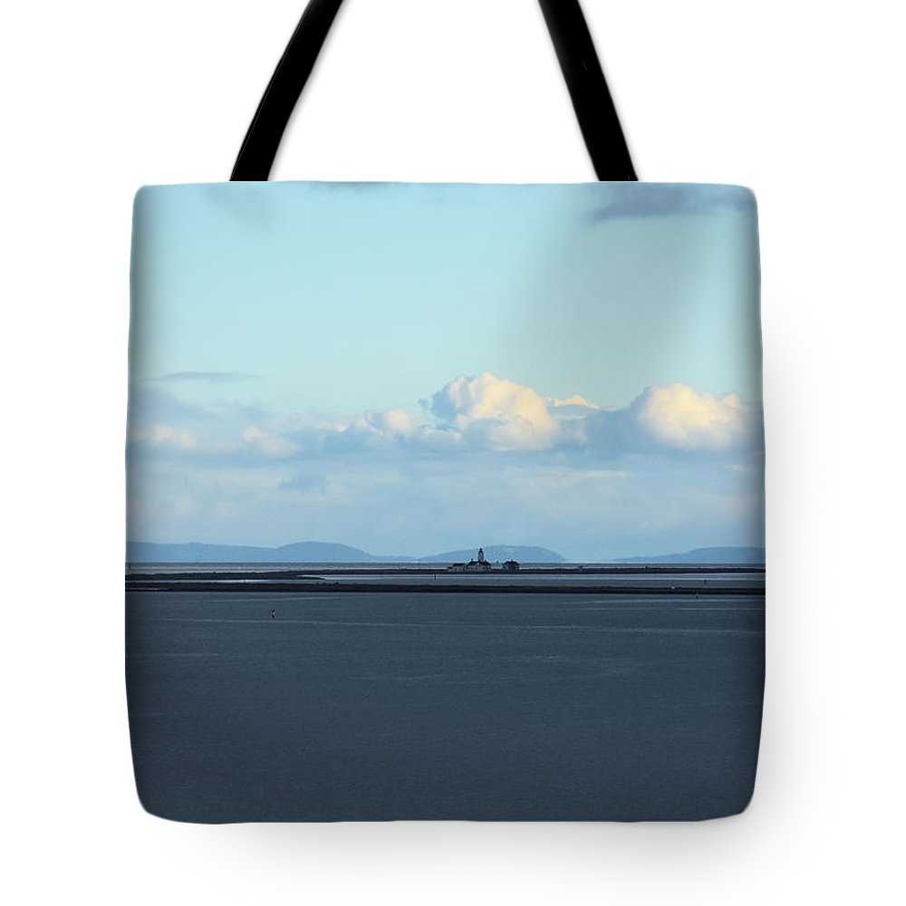 Lighthouse Tote Bag featuring the photograph New Dungeness Lighthouse by Rich Bodane