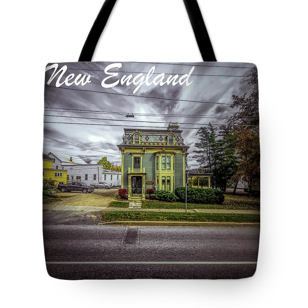 Michael Setiabudi Tote Bag featuring the photograph New England Home 3 by Michelle Saraswati