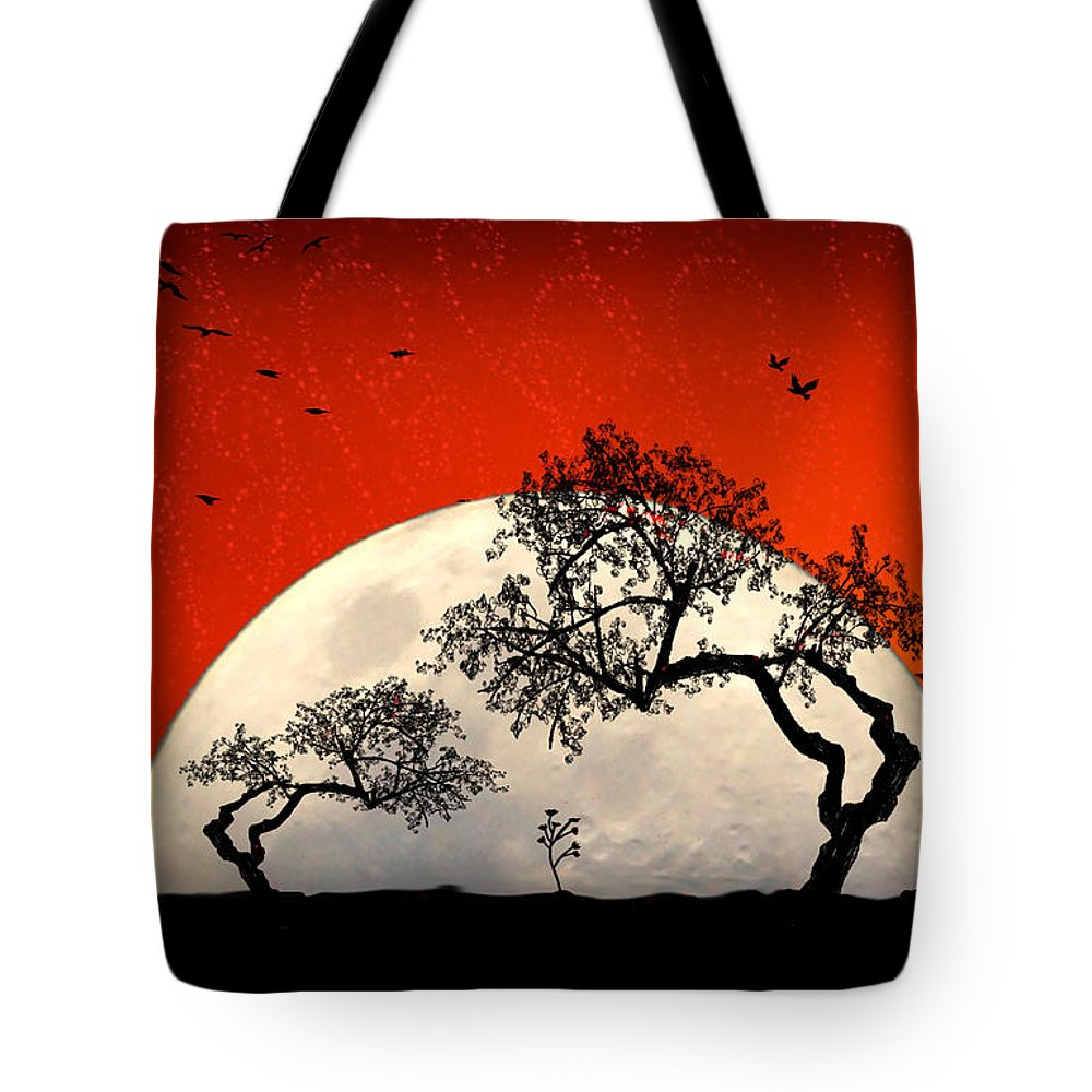 Moon Tote Bag featuring the digital art New Growth New Hope by Holly Kempe