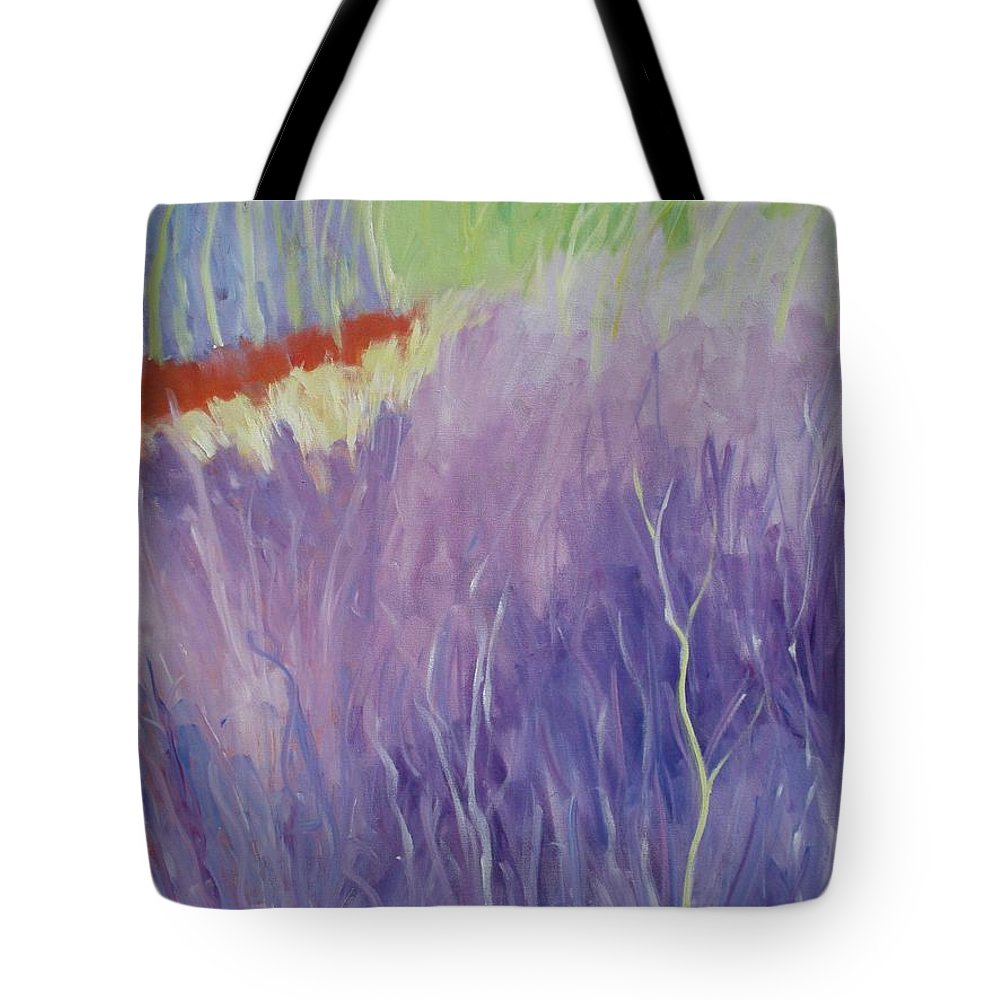 Meditative Tote Bag featuring the painting New Growth by Tara Moorman