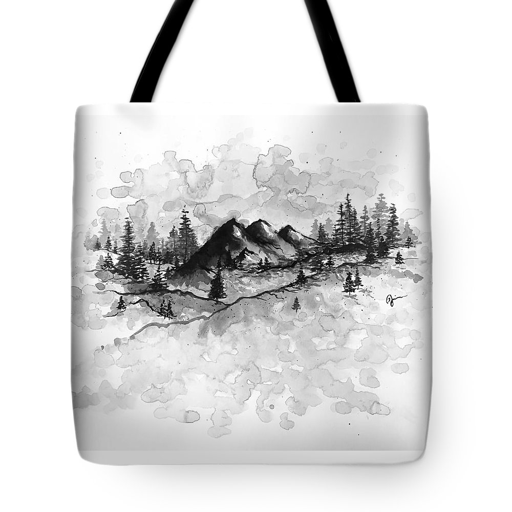 Mountains Tote Bag featuring the painting New Hampshire by Jaime Violano