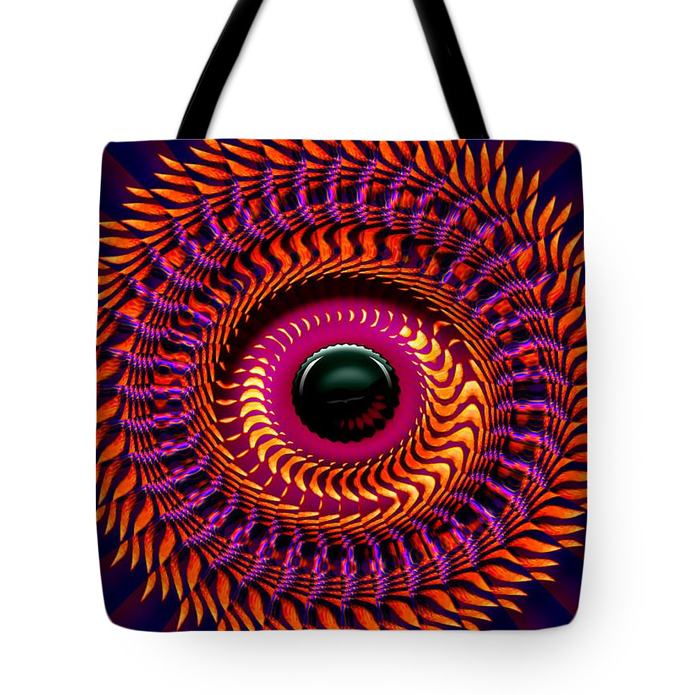 Sun Tote Bag featuring the digital art New Horizon by Robert Orinski