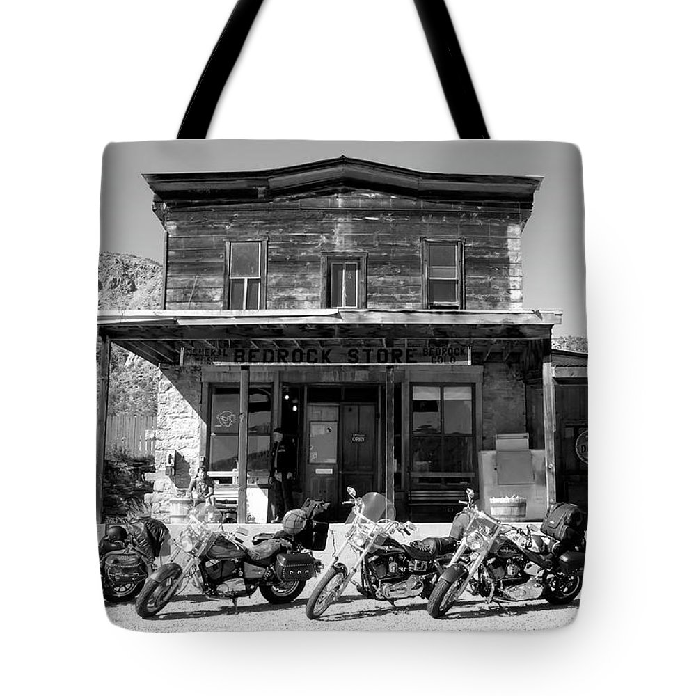 Fine Art Photography Tote Bag featuring the photograph New Horses At Bedrock by David Lee Thompson