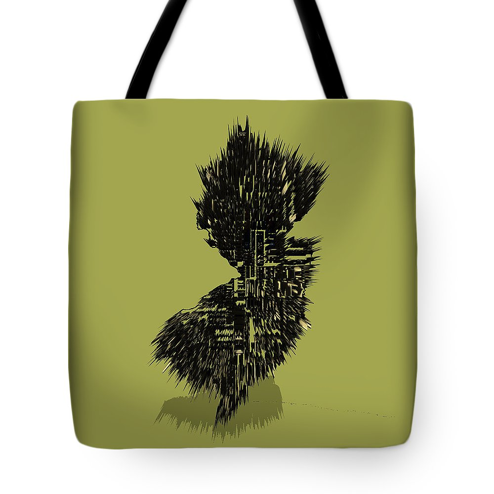 New Jersey Tote Bag featuring the digital art New Jersey Typographic Map 4a by Brian Reaves
