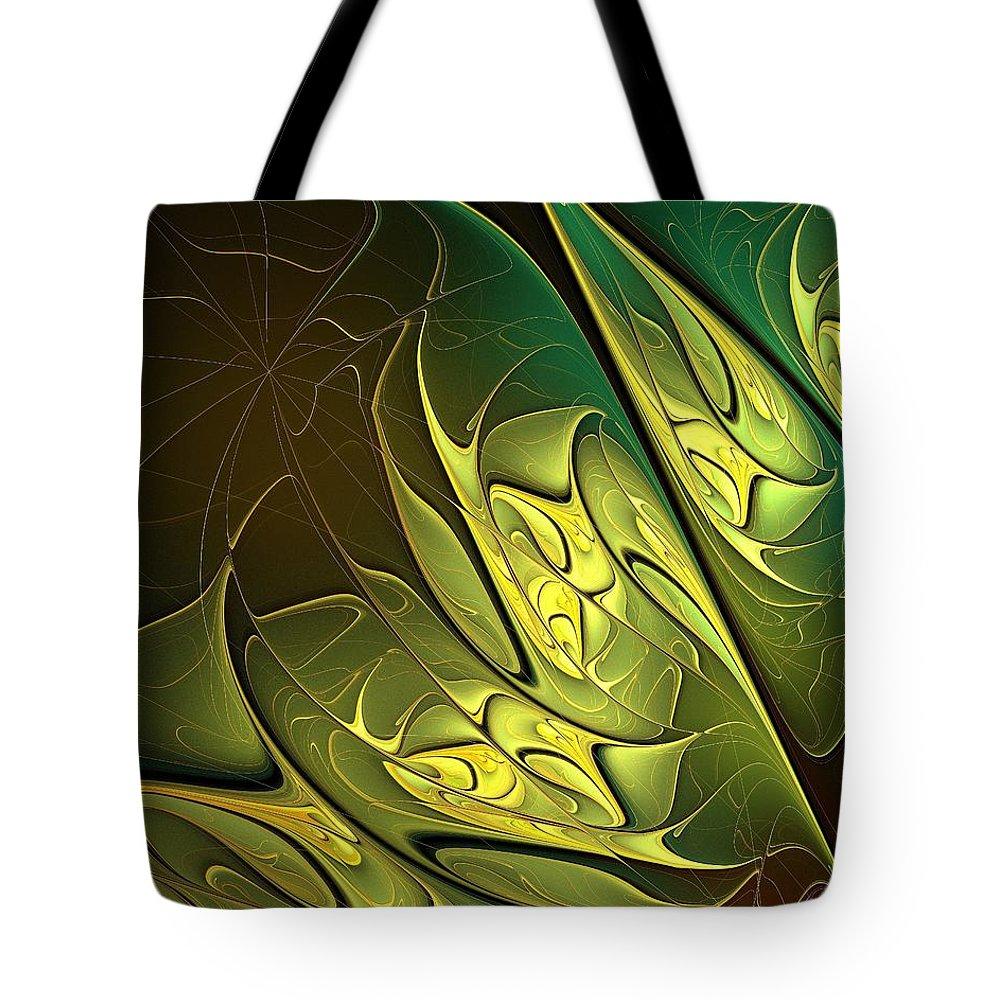 Digital Art Tote Bag featuring the digital art New Leaves by Amanda Moore