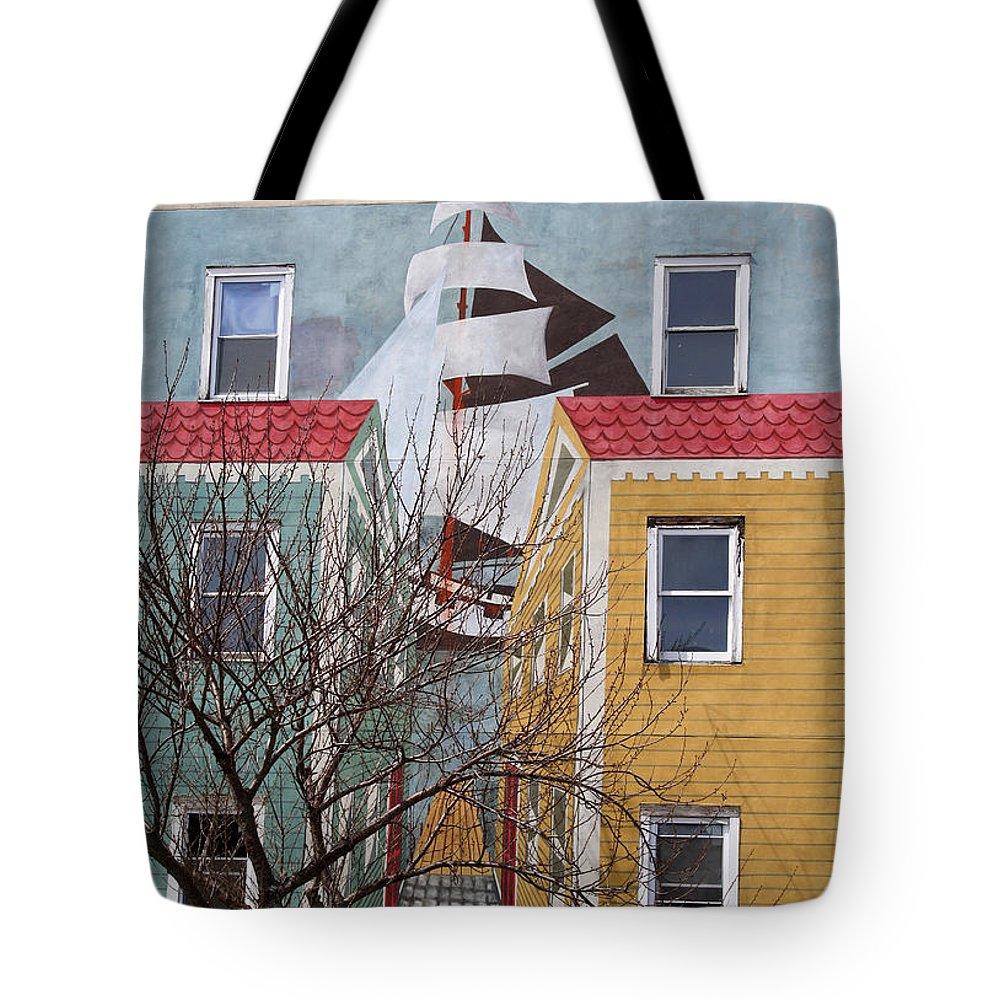 Architecture Tote Bag featuring the photograph New London Art by Deborah Napelitano