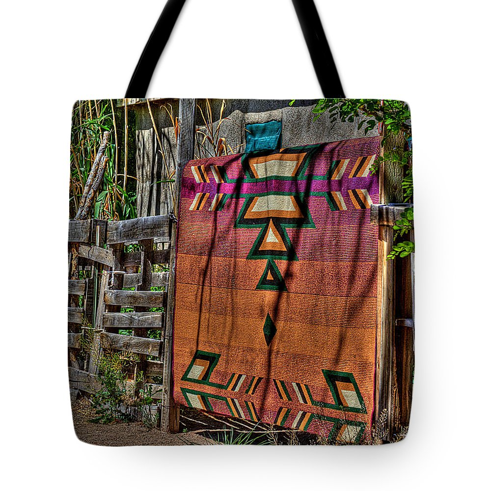New Mexico Tote Bag featuring the photograph New Mexico Blanket by David Patterson