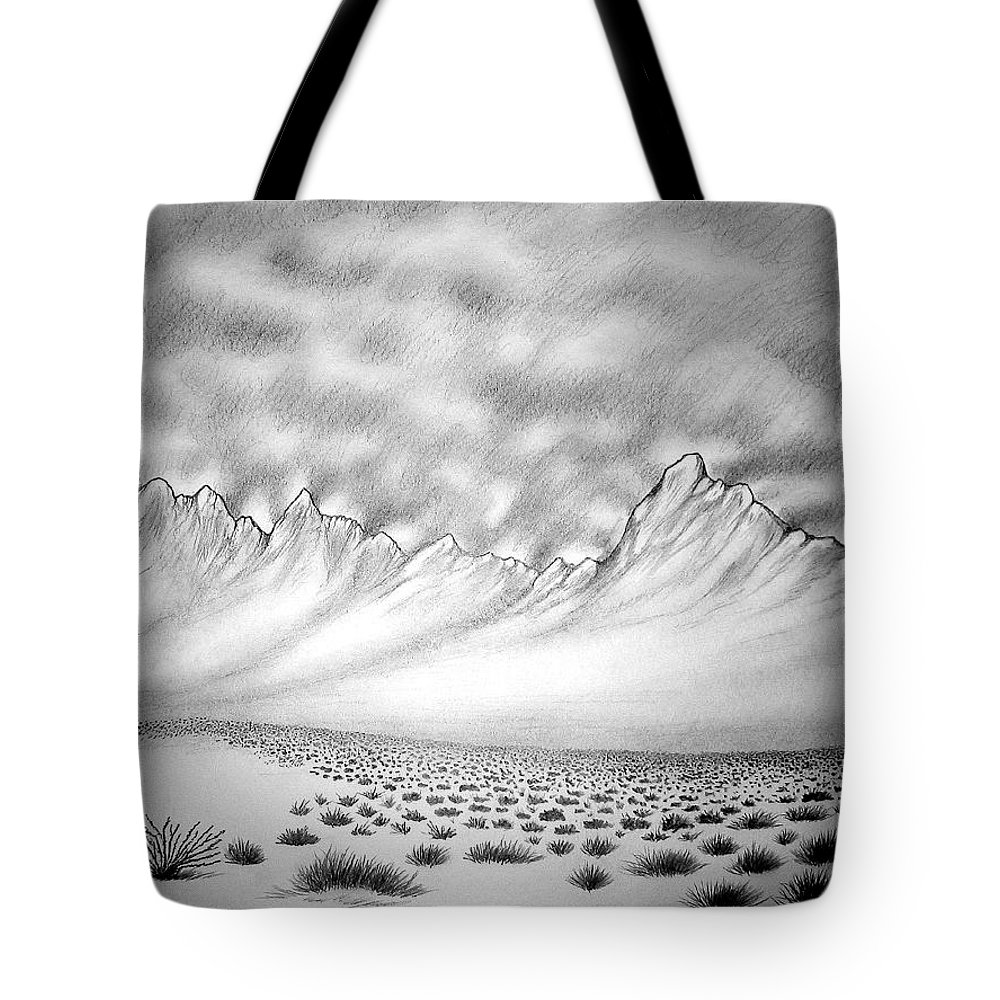 Tote Bag featuring the drawing New Mexico Passage by Marco Morales