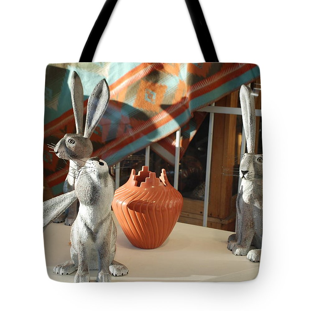 Rabbits Tote Bag featuring the photograph New Mexico Rabbits by Rob Hans