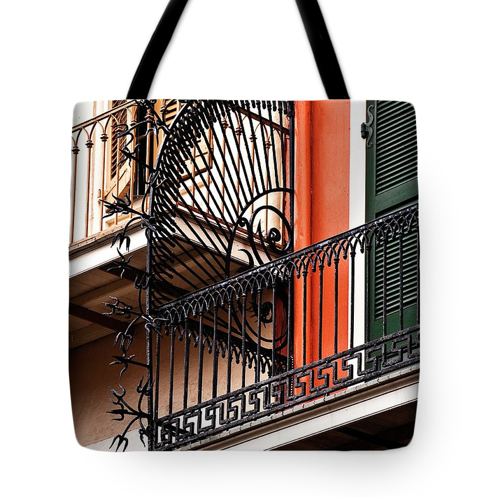 Balcony Tote Bag featuring the photograph New Orleans Balcony by Kathleen K Parker